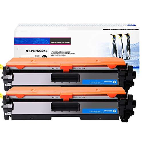 JZMY Cartucho de tóner para HP Colour LaserJet M203D M203DN M203DW M227FDW M227FDN M227SDN Modelo CF230A/30A, servicio de alta definición dos