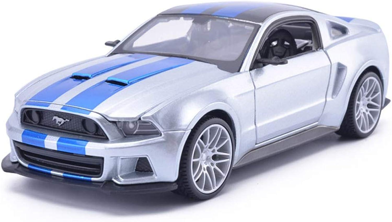 servicio de primera clase Zfggd Modelo De Coche Aleación Simulación Colección Colección Colección De Modelo De Coche Adornos Niños Regalo Conmemorativo - 1 24 Ford Mustang GT (Color   plata)  tienda en linea