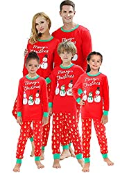 Matching Family Pajamas Christmas Santa Claus Sleepwear Cotton Kids PJs bf4304607