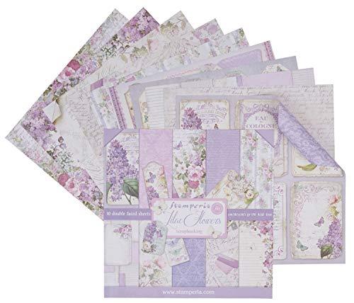 Stamperia SBBL21 Bloc de papel (10 hojas, doble cara), color lila, multicolor, 30 x 30