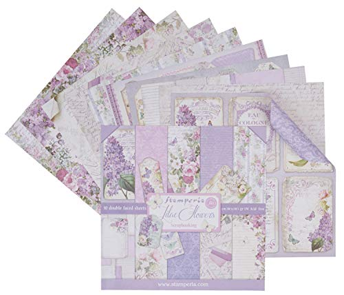 Sbbl21 Stamperia Double-sided Paper Pad 12'x12' 10/pkg-lilac, 10 Designs/1 Each