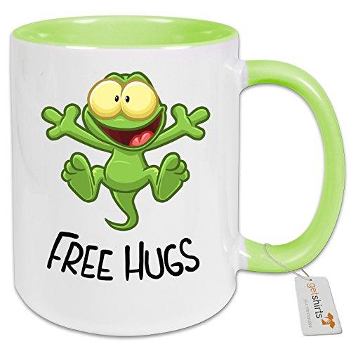 getshirts - Gronkh Official Merchandising - Tasse Color - FreeHugs - hellgruen Uni