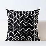 Nordic schwarz und weiß kissen geometrische gitter streifen einfache kissen sofa wohnzimmer...