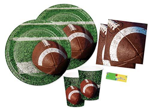 Creative Converting Kit n 2 Coordinato addobbi Festa Rugby - Football Americano Party
