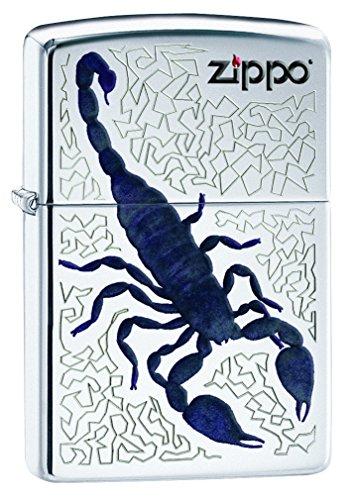 Imagen del productoZippo Scorpion Mechero, Metal, High Polish Chrome, 3.5x1x5.5 cm