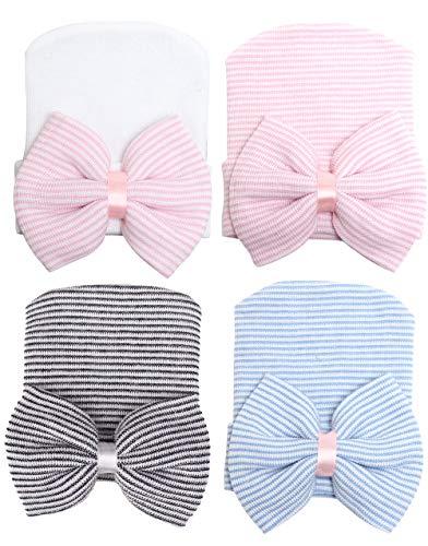 CBOO Gorros Bebé Sombrero Turbante para Bebé Recien Nacido Niña Infantil, Recién Nacido Sombrero Bowknot Cabeza Accesorio Pelo niña (B)