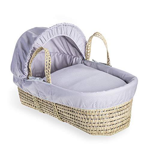 Clair de Lune, Cotton Dream Babykorb, Palmen-Design, Grau