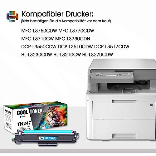 Cool Toner Kompatibel für Brother TN-243CMYK TN247 Replacement für TN-247 TN-243 TN243 für Brother MFC-L3750CDW MFC-L3770CDW DCP-L3550CDW HL-L3230CDW HL-L3210CW MFC-L3710CW MFC-L3730CDN HL-L3270CDW