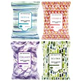 Body Prescriptions Makeup Remover Wipes Bulk, 4 Pack, 120 Facial Cleansing Cloths Removes Makeup, Mascara, Dirt and Oil (Retinol, Vitamin E, Tea Tree and Collagen )