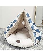 Camiter 猫 ベッド ペット寝袋 犬 ペットハウス ドーム型 ペットベッド ペットハウス クッション 三角形 防湿 小型ペットクッション 四季用 ベッド犬猫用 小型犬 寝床 小動物用