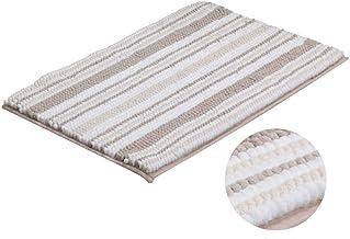 ESUPPORT Luxury Plush Chenille Bath Rug Soft Water Absorbent Shaggy Bathroom Mat Anti Slip Area Carpet Machine Washable, T...