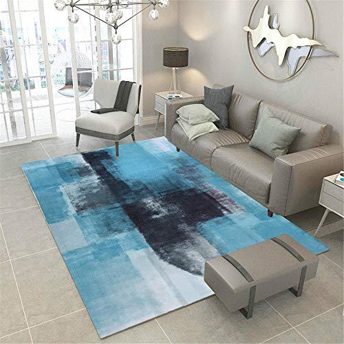 AU-OZNER tapijt lopers voor gangen, Sofa is gemakkelijk schoon te maken, kan geen kleur thee, wit tapijt, blauw inktpatroon tapijt, goedkope extra grote tapijten -blue_160x200cm