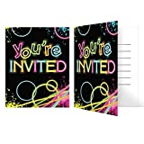 Creative Converting Glow Party Birthday Party Invitations (Value Pack:...