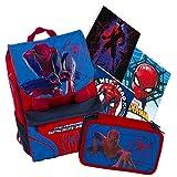 Schoolpack Spiderman - Rucksack + Etui + 3 Maxi-Hefte gratis