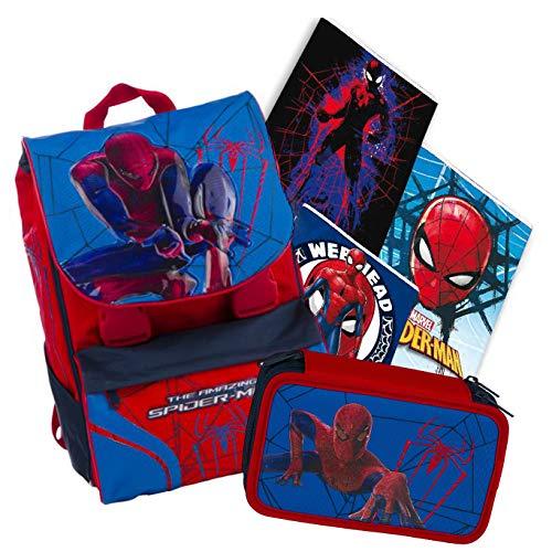 Giochi preziosi - Schoolpack Spiderman Rucksack + Federmäppchen + 3 Maxi-Hefte gratis