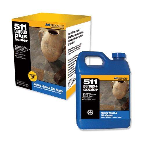 Miracle Sealants Plus 4- Pack SG 511 Porous Plus Penetrating Sealer Contractor Pack, 4-Quart