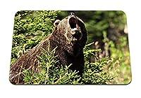 22cmx18cm マウスパッド (クマの茶色の侵略の草の森) パターンカスタムの マウスパッド