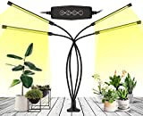 Grow Light, Growing Lamps for Indoor Plants, Ochter 80 LED Grow Light, Full Spectrum Plant Grow Lights for Plants Growth with 3/6/12H Intelligent Timer, 10 Dimmable Levels, USB or AC Powered