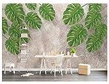 Apoart - Carta da parati fotografica in tessuto di seta 3D, motivo: foresta pluviale tropicale e banana, 300 x 210 cm., 300X210cm(118.11 * 82.67in)