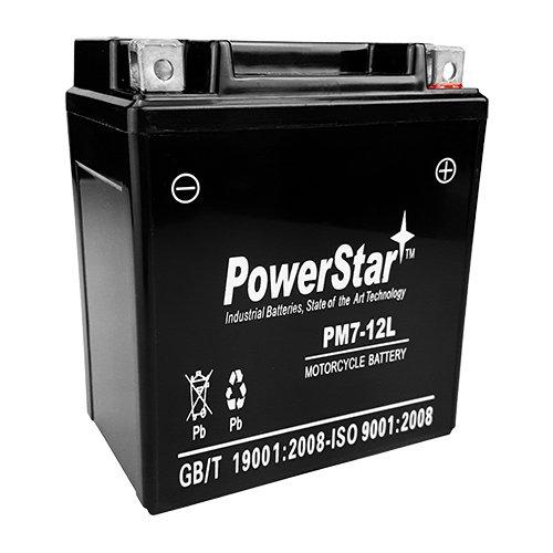 PowerStar YTX7L-BS Battery for Honda CB600F CMX250C Rebel 250 Nighthawk NX SH150 SLA AGM
