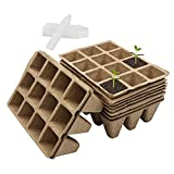 Dsaren 10 Piezas 12 Grid Bandeja Semillero Macetas Biodegradables Turba Bandeja...