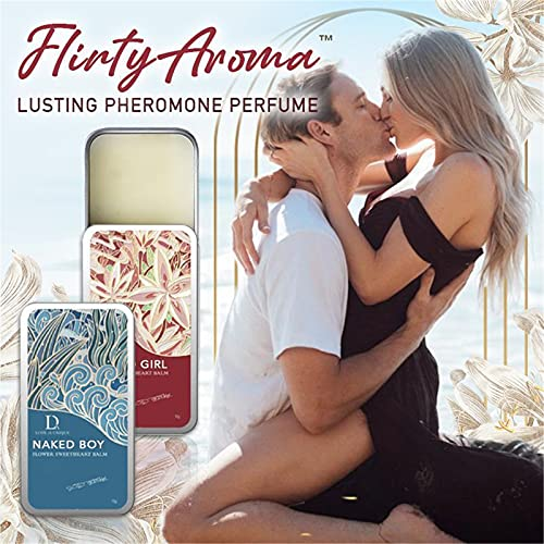 Bgnoerh 2pcs FlirtyAroma Lusting Pheromone Perfume, BellunaMoon Romance Pheromone Perfume, Ms Seduce Pheromone Fragrance Cream, Pheromone Infused Essential Oil Perfume