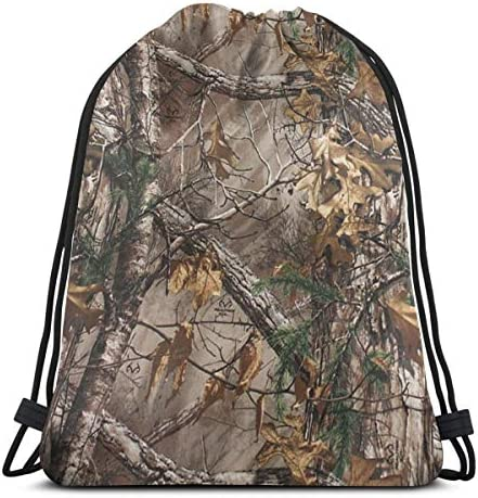 Unisex Drawstring Backpack Realtree Camo Gympack String Bag Casual Daypack product image