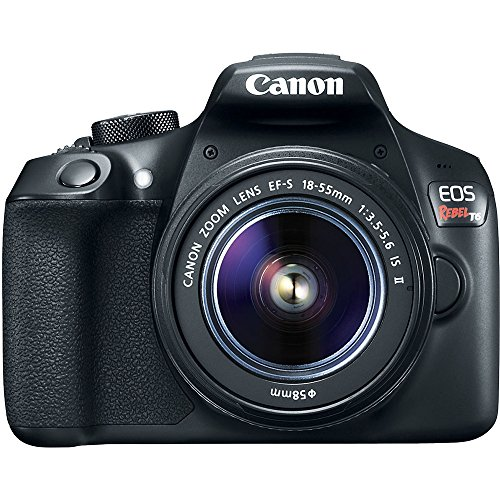 Canon T6 EOS Rebel DSLR Camera w/EF-S 18-55mm is II & 75-300mm III Lens Kit + Accessory Bundle 64GB SDXC Memory + SLR Photo Bag + Wide Angle Lens + 2X Telephoto Lens + Flash + Remote + Tripod & More
