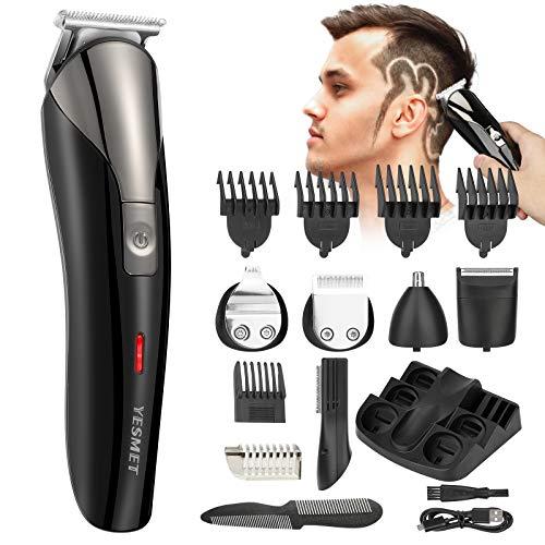 WELVAN Haarschneidemaschine,Rasierer Herren Elektrisch Friseurbedarf,6 Modi Haarschneider Profi,Elektrischer Rasierer Herren und Haarschneider Set,Elektro Haarschneider in 5 Ulängen