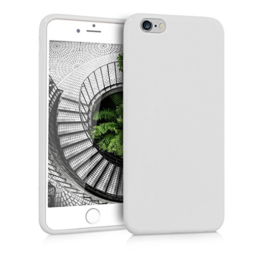 kwmobile Funda Compatible con Apple iPhone 6 Plus / 6S Plus - Carcasa de TPU Silicona - Protector Trasero en Blanco Mate