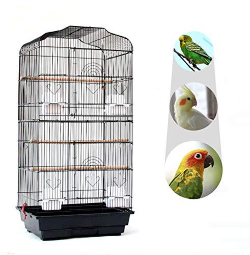 TOPYL 36' Gabbia per Uccelli Macaw Gioca Casa Cockatoo Pappagallo Finch Gabbia di Volo,Prodotti per Animali Domestici Viaggio Gabbia per Uccelli con 2 Porte Persico 4 Alimentatore