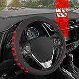 Motor Trend FlexGrip Red Steering Wheel Cover...