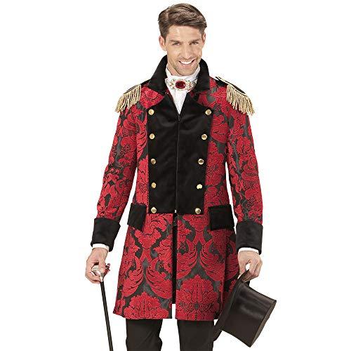 Widmann 59294 - Kostüm roter Mantel Jacquard Parade, für Männer, Frack, Mottoparty, Karneval
