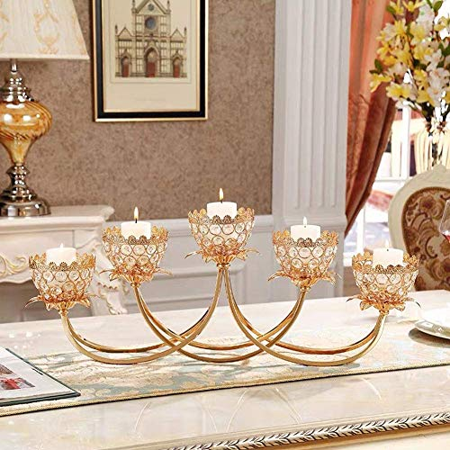 Romantic Crystal Candlestick, Candlelight Dinner Table Decoration, High-Grade Living Room Table Bedroom Candle Holders Room Decorations, Suitable for Holiday, Party
