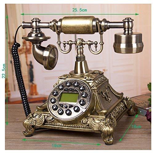 FHISD Teléfono Teléfono Antiguo Europeo Identificación de Llamadas Línea Fija Pantalla LCD Teléfono Fijo Teléfono para el hogar Cocina Hotel Oficina Teléfonos a Prueba de Humedad