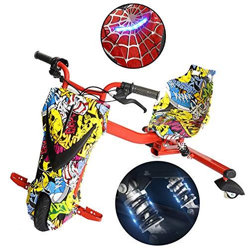 Fly Kickroller Elektro Motor Dreirad Electric Go Kart Scooter 3-Rad 360 Dreirädrige Kraft Reiter Mit Doppelter Federstoßdämpfung Kinder Jungen Und Mädchen,Street Dance