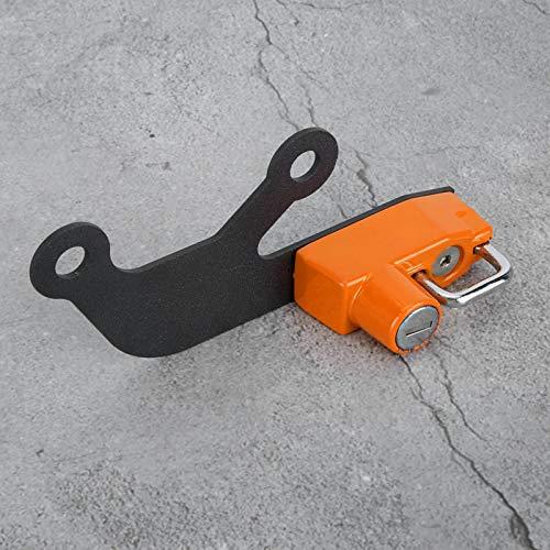 Práctico casco de bloqueo -Theft motocicleta accesorio para Ninja 650 Z 650 (naranja)