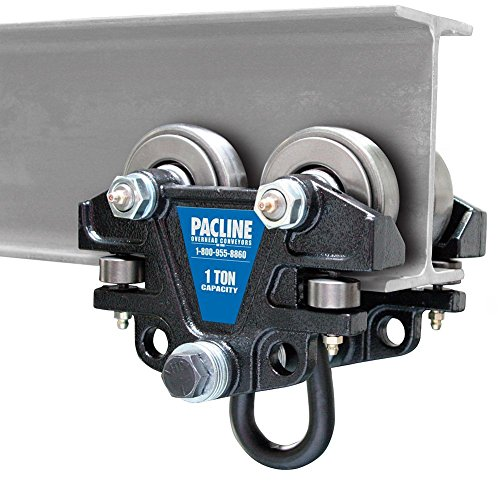 Pacline 09-012-00002, Hand Push Beam Trolley, 1 Ton Capacity
