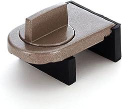 Schuifsjerp Stopper Venster Veiligheidsslot, Aluminium Verstelbare Deur Window Lock Stopper Wedge met Rubber Overdekt, Rie...