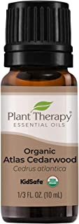 Plant Therapy Organic Atlas Cedarwood Essential Oil 100% Pure, USDA Certified Organic, Undiluted, Natural Aromatherapy, Th...