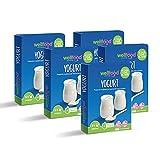 Crema allo Yogurt Bianco Preparato in Polvere Solubile, 5 Confezioni da 100g - WellFood Italia