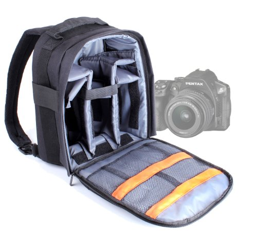 DURAGADGET Medium Zaino per digitale SLR camera e astuccio per Pentax K and M DSLR