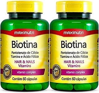 Biotina - 2 unidades de 60 cápsulas - Maxinutri