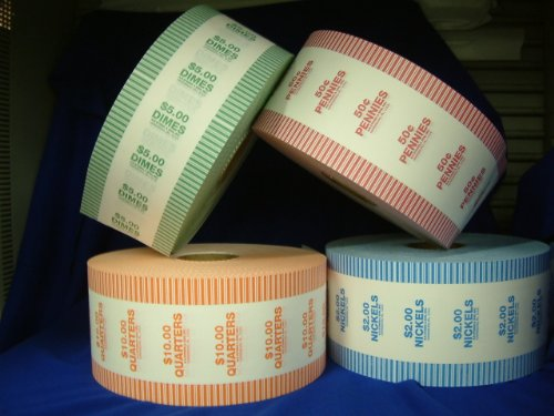 N. F. STRING & SON, INC. AUTO WRAP Rolls for All Coin Wrapping Machines, 1000′ ROLL, 2000 RED Penny Wrappers