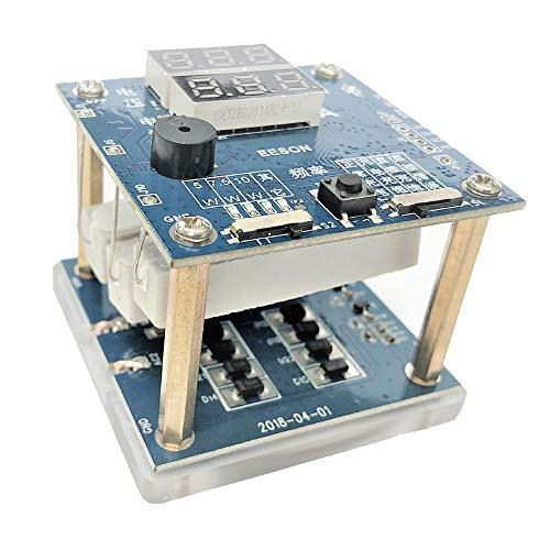 Comprobador de voltaje y corriente inalámbrico con función ajustable, pantalla LED, linterna LED, alarma de zumbador, modelo Samsung 10 W, modelo iPhone 7.5 W. Modelo qi-standard 5 W