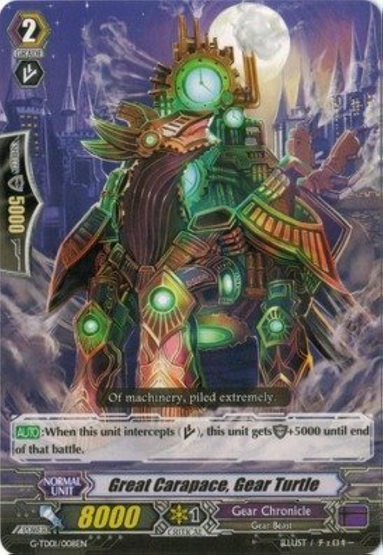 Cardfight   Vanguard TCG - Great Carapace, Gear Turtle (G-TD01 008EN) - G Trial Deck 1  Awakening of The Interdimensional Dragon