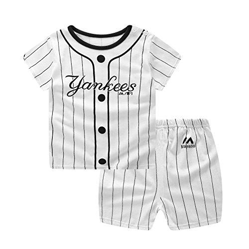 Baywell Kids Baby Boy Kleidung Set, Kleinkind Niedlichen Cartoon Brief Drucker T-Shirt + Shorts Outfit 2 stücke (110/4-5Jahre, A)