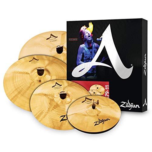 Zildjian A20579-11 A Custom Series Cymbal Box Set, 14' Hi-Hats, 16'/18' Crash, 20' Medium Ride, 4 pezzi