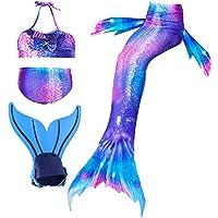 shepretty Traje de Baño de La Cola Sirena de Las Muchachas Bikini Set para Nadar Traje de Sirena,Dh2222,130