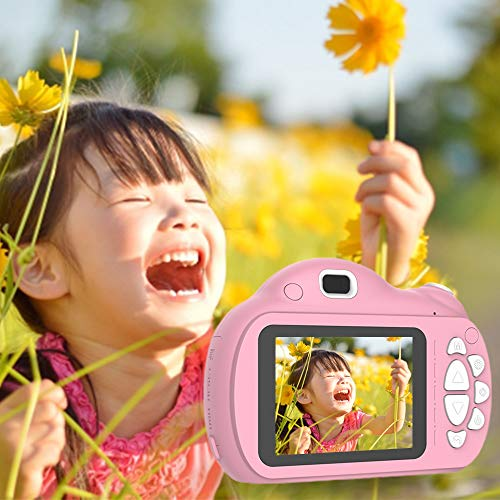 子供用デジタルカメラトイカメラ子供用カメラ1800万画像2.4インチ自撮り多機能子供プレゼント32GB容量SDカード日本語説明書付き(ピンク)